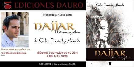 Najjar, dibújame en pólvora, presentación en Madrid