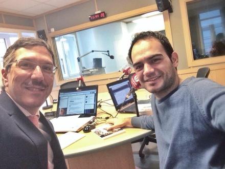 Entrevista en Capital Radio para hablar sobre Najjar, dibújame en pólvora.