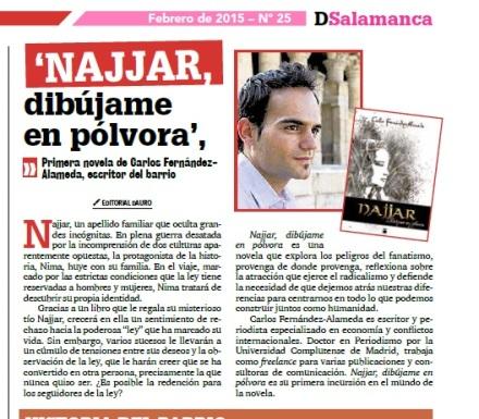 Najjar, dibújame en pólvora en DSalamanca, la publicación del conocido barrio madrileño