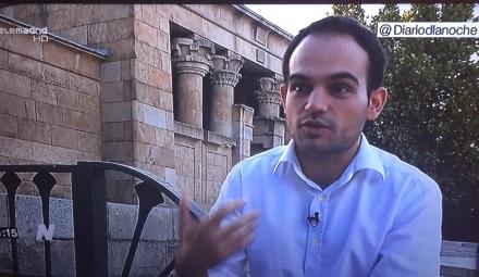Imagen de la Entrevista a Carlos Fernández-Alameda en Telemadrid. Fuente: Chis Macías