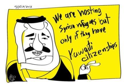 Caricatura de Juan Zero, activista sirio.