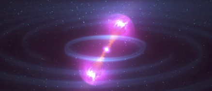 Animation of kilonova created by colliding neutron stars (Image: NASA Goddard/YouTube screengrab
