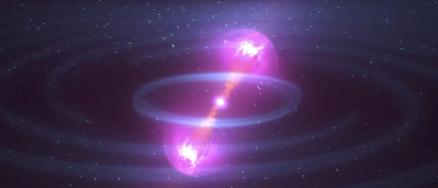Animation of kilonova created by colliding neutron stars (Image: NASA Goddard/YouTube screengrab