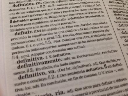 La palabra definir en el Diccionario de la Real Academia de la Lengua. Fuente: elaboración propia
